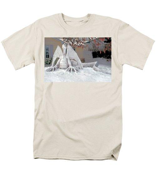 Snow Dragon 3 Men's T-Shirt  (Regular Fit) by Terry Reynoldson