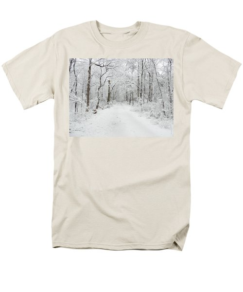 Snow In The Park Men's T-Shirt  (Regular Fit) by Raymond Salani III