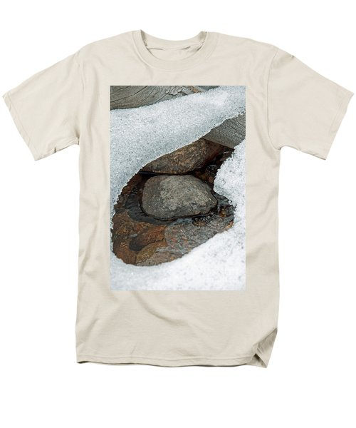 Snow Melt 1 Men's T-Shirt  (Regular Fit) by Minnie Lippiatt