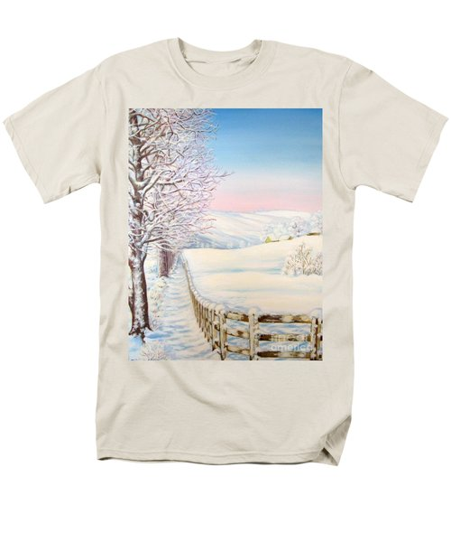 Snow Path Men's T-Shirt  (Regular Fit) by Inese Poga