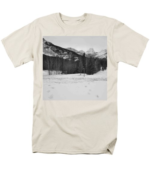 Snow Prints Men's T-Shirt  (Regular Fit) by Cheryl Miller