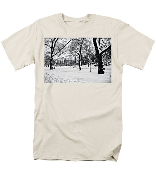 Snow Scene  Men's T-Shirt  (Regular Fit) by Madeline Ellis
