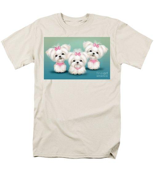 Snowflakes  Men's T-Shirt  (Regular Fit) by Catia Cho