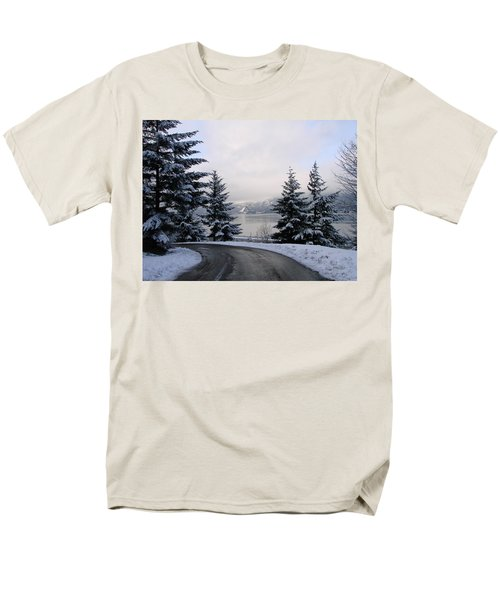 Men's T-Shirt  (Regular Fit) featuring the photograph Snowy Gorge by Athena Mckinzie
