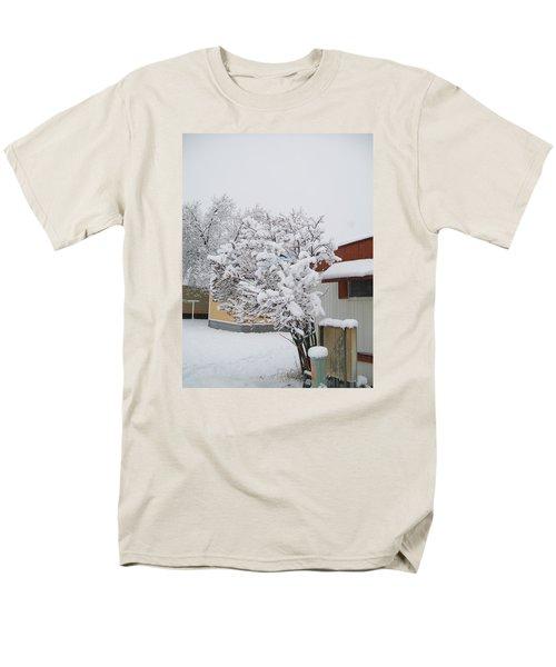 Snowy Lilac Men's T-Shirt  (Regular Fit) by Jewel Hengen