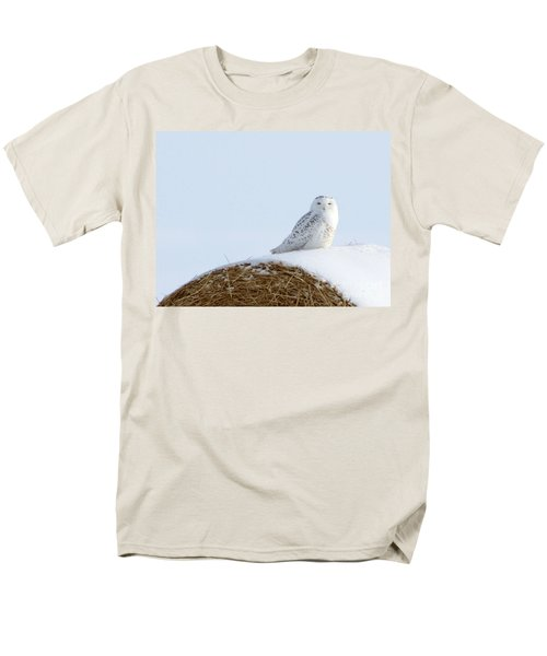 Men's T-Shirt  (Regular Fit) featuring the photograph Snowy Owl by Alyce Taylor