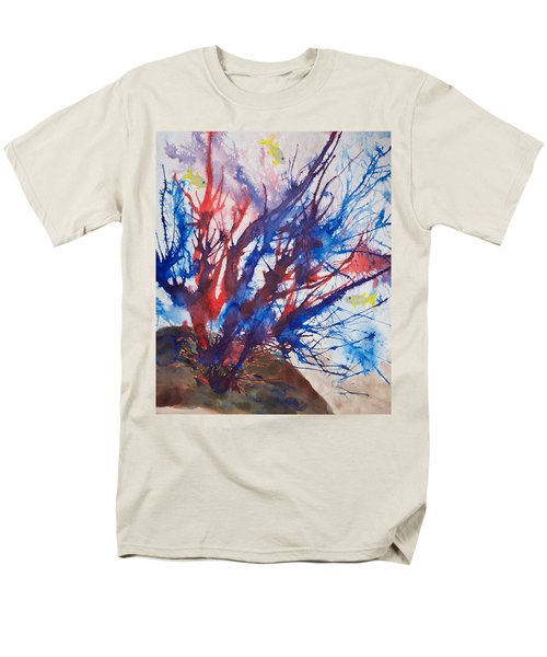 Soft Coral Splatter Men's T-Shirt  (Regular Fit) by Patricia Beebe