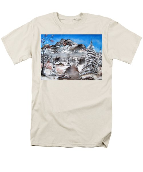 Men's T-Shirt  (Regular Fit) featuring the painting South Dakota Morning by Patrice Torrillo