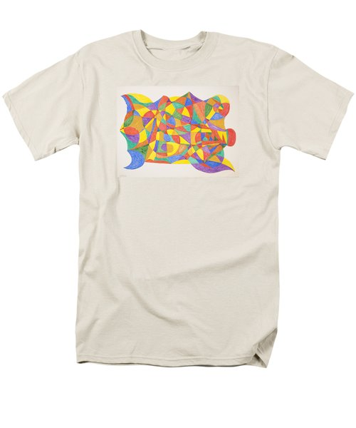 Men's T-Shirt  (Regular Fit) featuring the painting Space Craft by Stormm Bradshaw