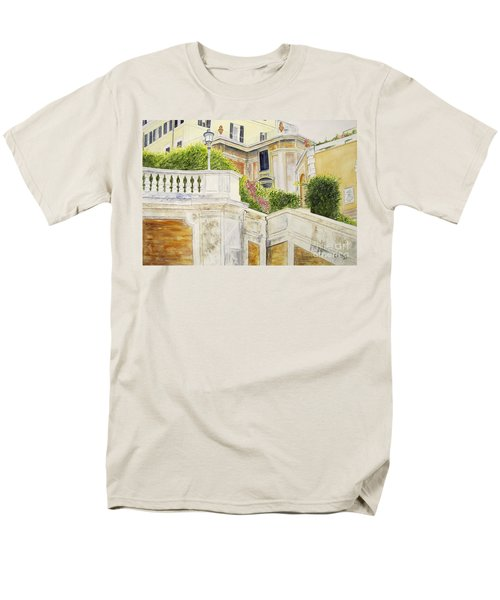 Men's T-Shirt  (Regular Fit) featuring the painting Spanish Steps by Carol Flagg
