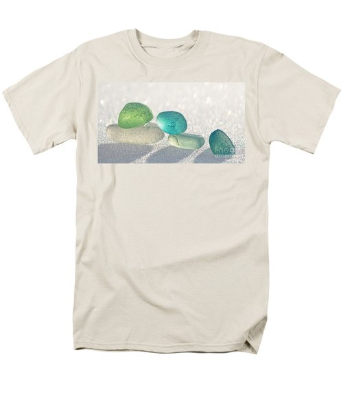 Sparkling Sea Glass Friends Men's T-Shirt  (Regular Fit) by Barbara McMahon