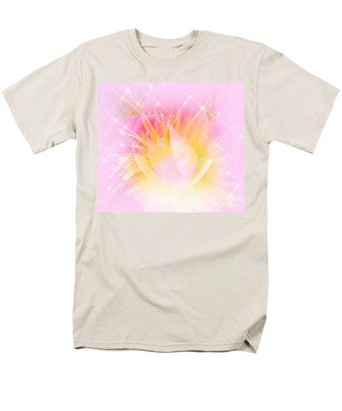 Men's T-Shirt  (Regular Fit) featuring the photograph Sparkling Starlight Burst Abstract by Judy Palkimas