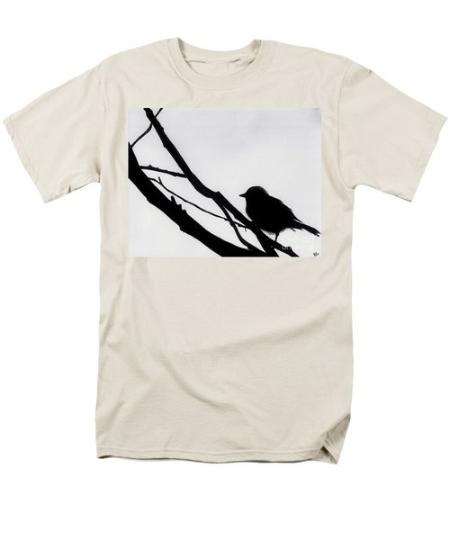 Men's T-Shirt  (Regular Fit) featuring the drawing Sparrow In A Gray Sky by D Hackett