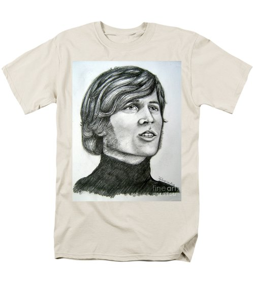 Men's T-Shirt  (Regular Fit) featuring the drawing  A Young Barry Gibb by Patrice Torrillo