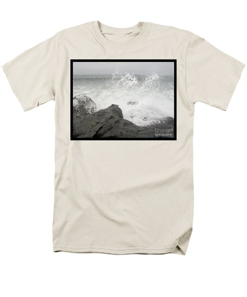 Men's T-Shirt  (Regular Fit) featuring the photograph Splash And Gray by Glenn McCarthy Art and Photography