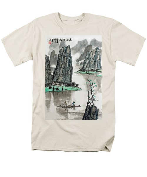 Men's T-Shirt  (Regular Fit) featuring the photograph Spring River by Yufeng Wang