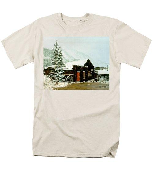 St Elmo Snow Men's T-Shirt  (Regular Fit) by Craig T Burgwardt