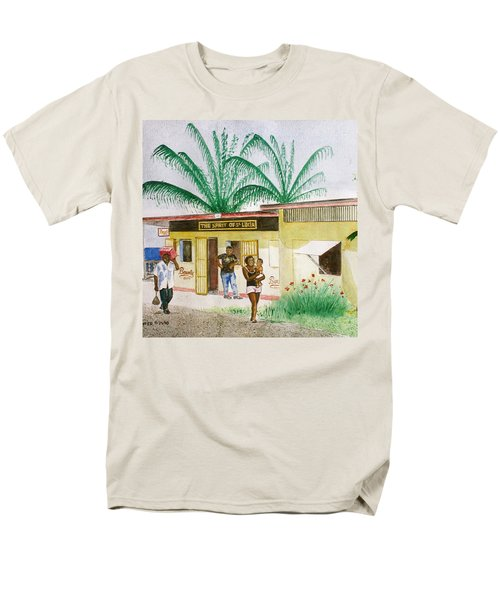 St. Lucia Store Men's T-Shirt  (Regular Fit) by Frank Hunter