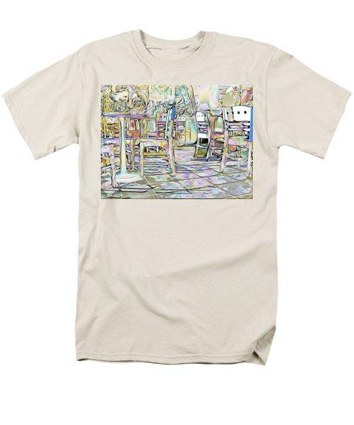 Men's T-Shirt  (Regular Fit) featuring the digital art Starbucks After Hours by Mark Greenberg