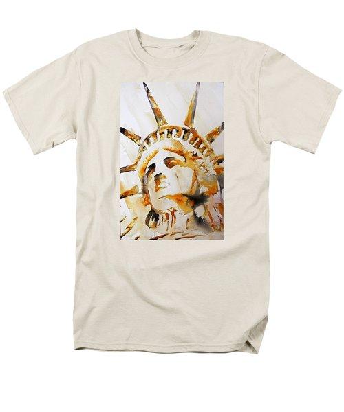 Statue Of Liberty Closeup Men's T-Shirt  (Regular Fit) by J- J- Espinoza
