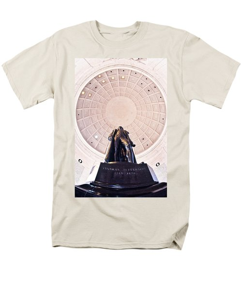 Statue Of Thomas Jefferson Men's T-Shirt  (Regular Fit) by Panoramic Images
