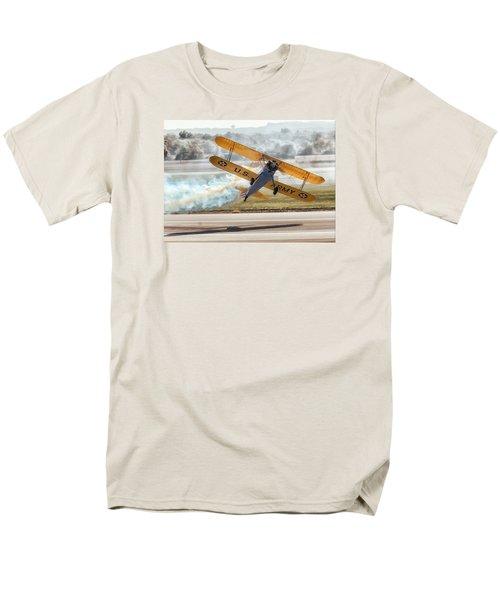 Stearman Model 75 Biplane Men's T-Shirt  (Regular Fit) by Alan Toepfer