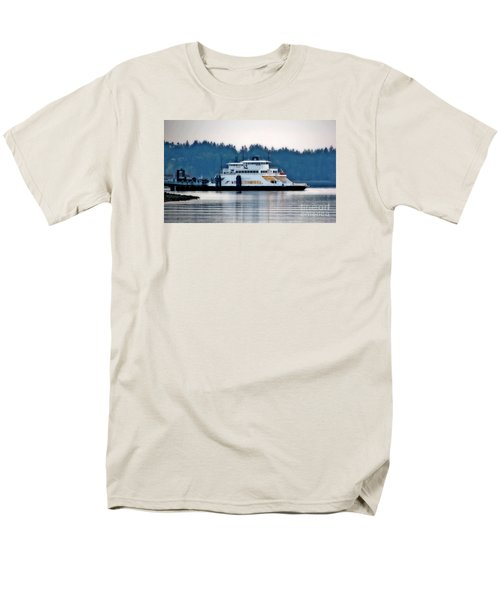 Steilacoom Ferry At Dusk Men's T-Shirt  (Regular Fit) by Chris Anderson