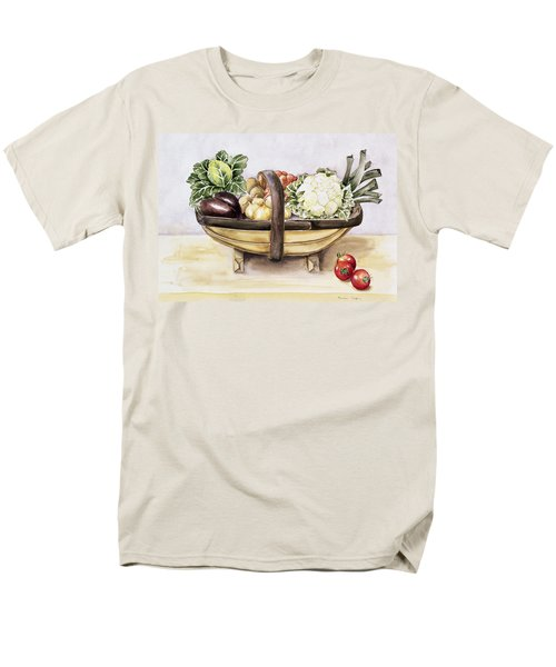 Still Life With A Trug Of Vegetables Men's T-Shirt  (Regular Fit) by Alison Cooper