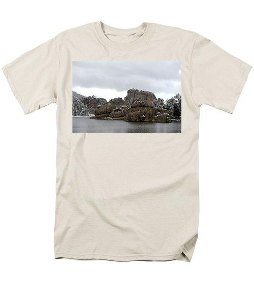 Men's T-Shirt  (Regular Fit) featuring the photograph Sylvan Lake In October by Clarice  Lakota
