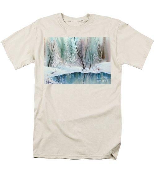 Stream Cove In Winter Men's T-Shirt  (Regular Fit) by Teresa Ascone