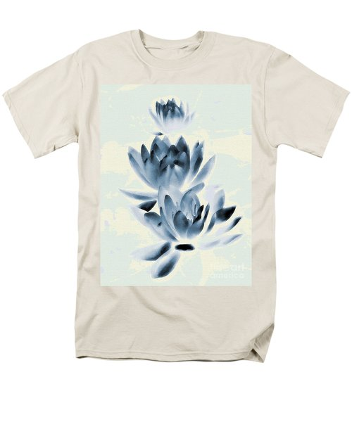 Study In Blue Men's T-Shirt  (Regular Fit) by Andrea Kollo