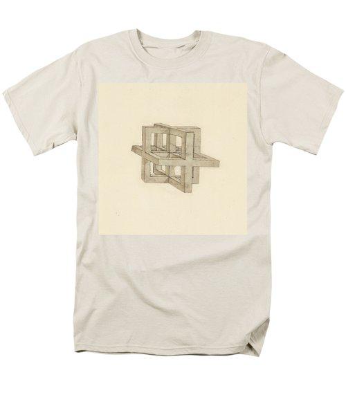 Study Of Perspective  Men's T-Shirt  (Regular Fit) by Leonardo Da Vinci