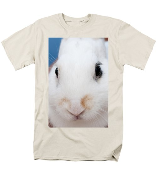 sugar the easter bunny 1 -A curious and cute white rabbit close up Men's T-Shirt  (Regular Fit) by Pedro Cardona