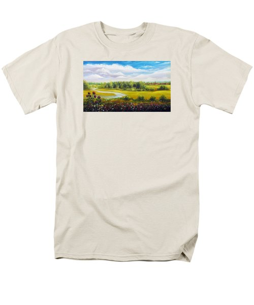 Men's T-Shirt  (Regular Fit) featuring the painting Summer Day by Vesna Martinjak