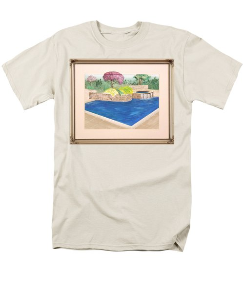 Men's T-Shirt  (Regular Fit) featuring the painting Summer Days by Ron Davidson