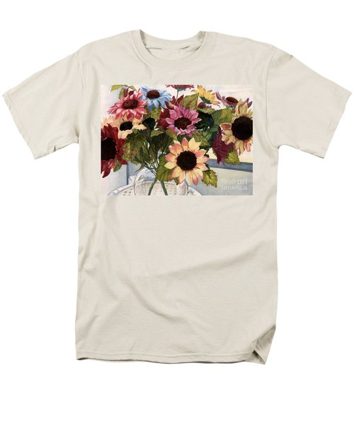 Sunflowers Men's T-Shirt  (Regular Fit) by Barbara Jewell