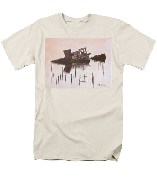 Sunken Boat Men's T-Shirt  (Regular Fit) by Stan Tenney