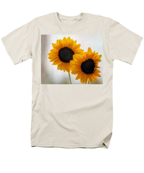 Sunny Flower On A Rainy Day Men's T-Shirt  (Regular Fit) by Tammy Espino