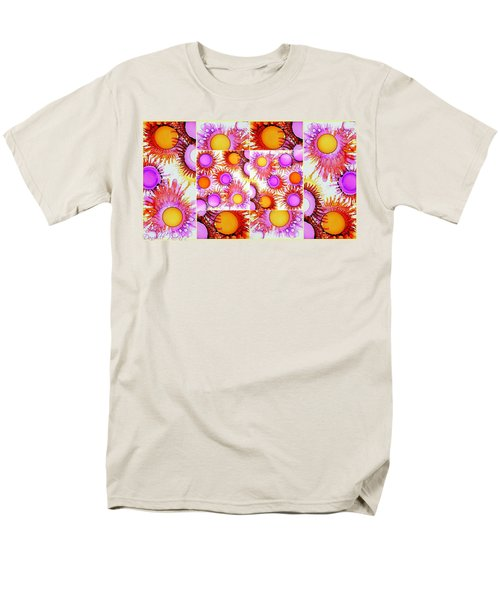 Sunny Happy Abstract Alcohol Inks Collage Men's T-Shirt  (Regular Fit) by Danielle  Parent