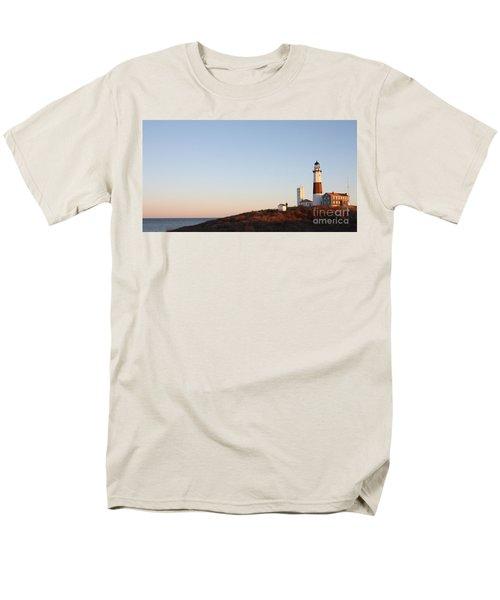 Sunset Over Montauk Lighthouse Men's T-Shirt  (Regular Fit) by John Telfer