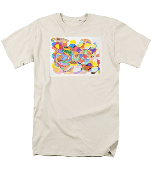 Men's T-Shirt  (Regular Fit) featuring the painting Abstract Dance Party  by Stormm Bradshaw