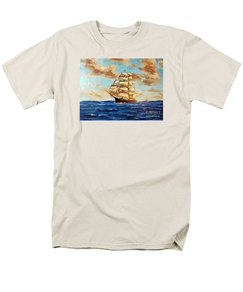 Tall Ship On The South Sea Men's T-Shirt  (Regular Fit) by Lee Piper
