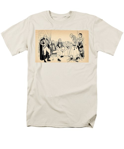 Men's T-Shirt  (Regular Fit) featuring the drawing Tammy Meets Betsy Ross by Reynold Jay