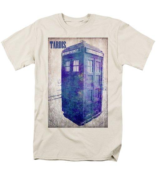 Tardis Men's T-Shirt  (Regular Fit) by Paulette B Wright