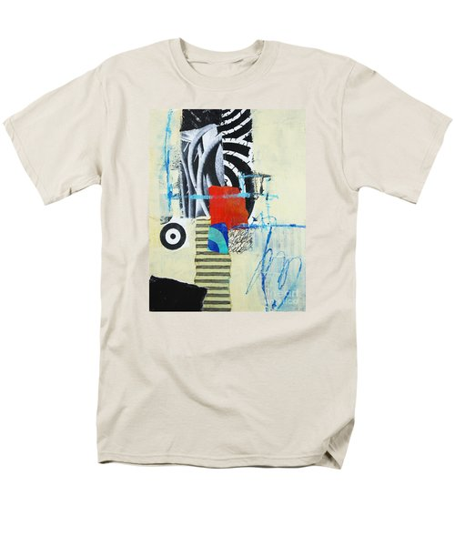 Men's T-Shirt  (Regular Fit) featuring the mixed media Target by Elena Nosyreva