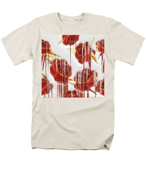 Tear-stained Roses Men's T-Shirt  (Regular Fit) by Liane Wright