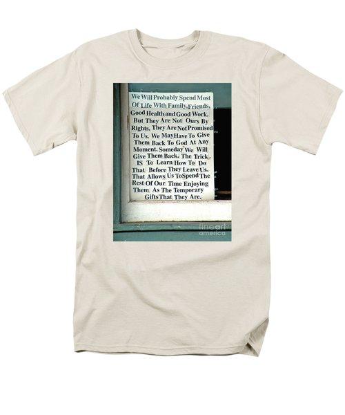 Temporary Gifts Men's T-Shirt  (Regular Fit) by Joe Jake Pratt