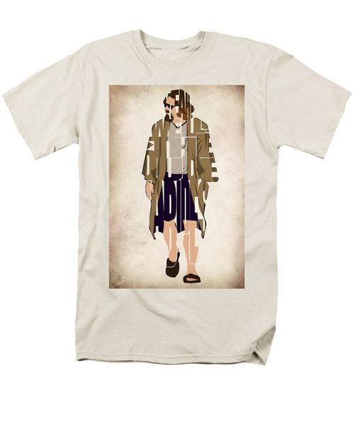 The Big Lebowski Inspired The Dude Typography Artwork Men's T-Shirt  (Regular Fit) by Ayse Deniz