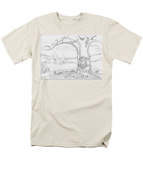 Men's T-Shirt  (Regular Fit) featuring the painting The Big Oak  by Felicia Tica
