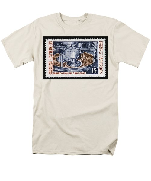 The Chocolate Factory Vintage Postage Stamp Men's T-Shirt  (Regular Fit) by Andy Prendy
